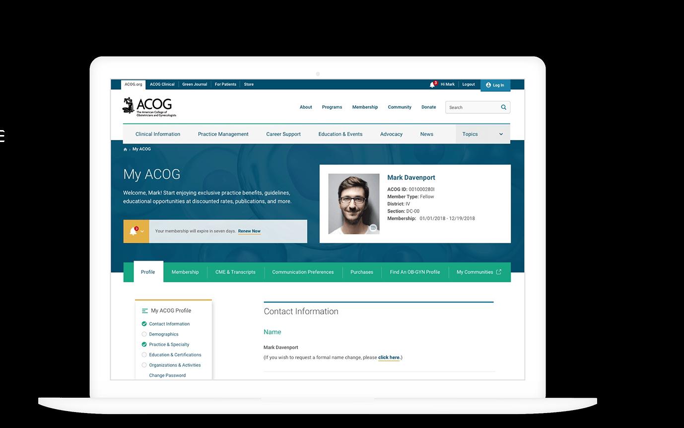ACOG membership profile