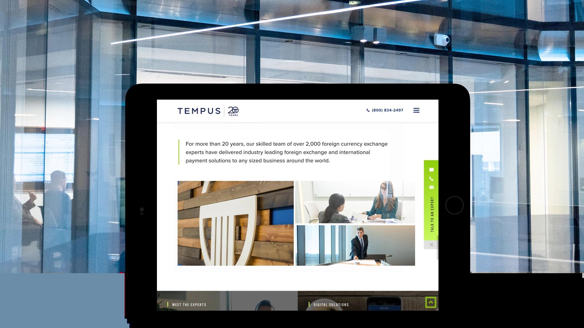 Tempus tablet site view