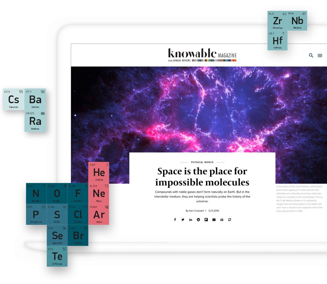 Knowable Magazine engaging design
