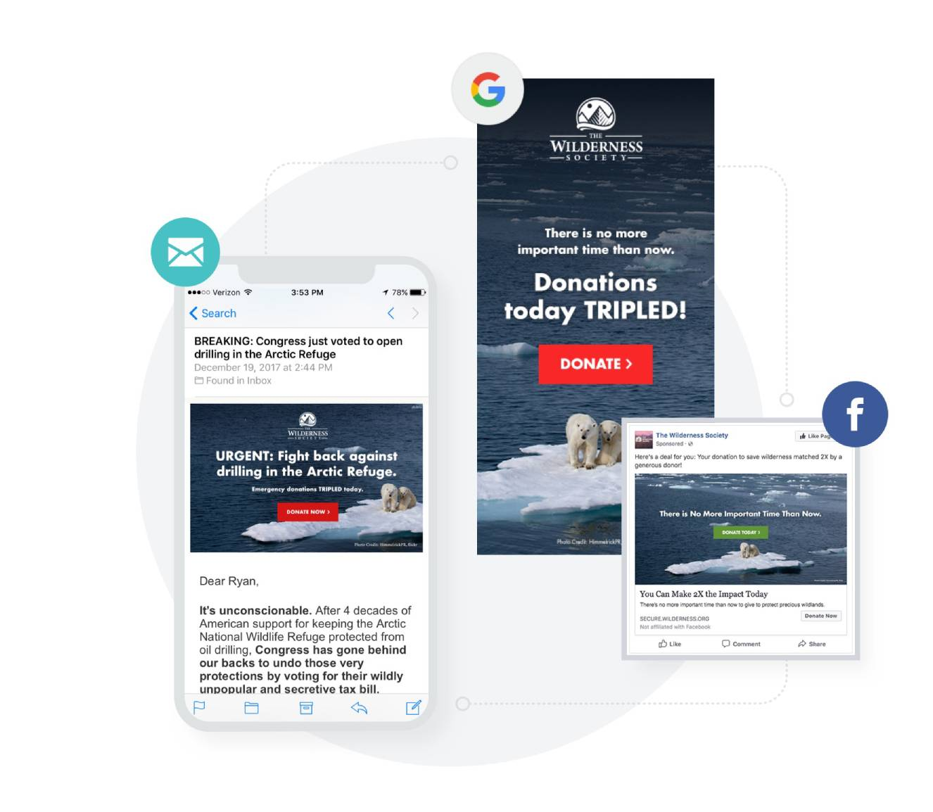 Multi-channel fundraising examples