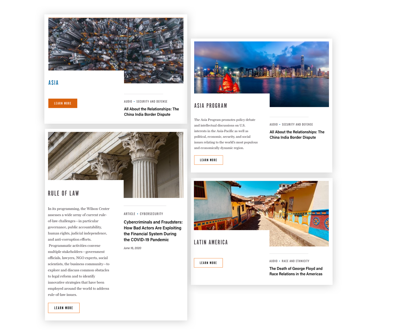 Related content component examples
